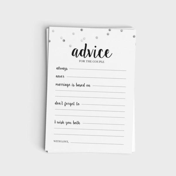 Advice for the Couple - Black & Glitter Design