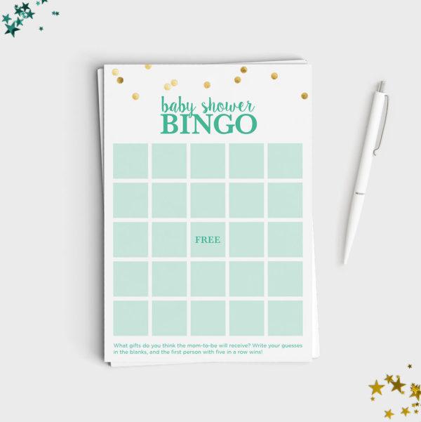 Baby Shower Game - Bingo