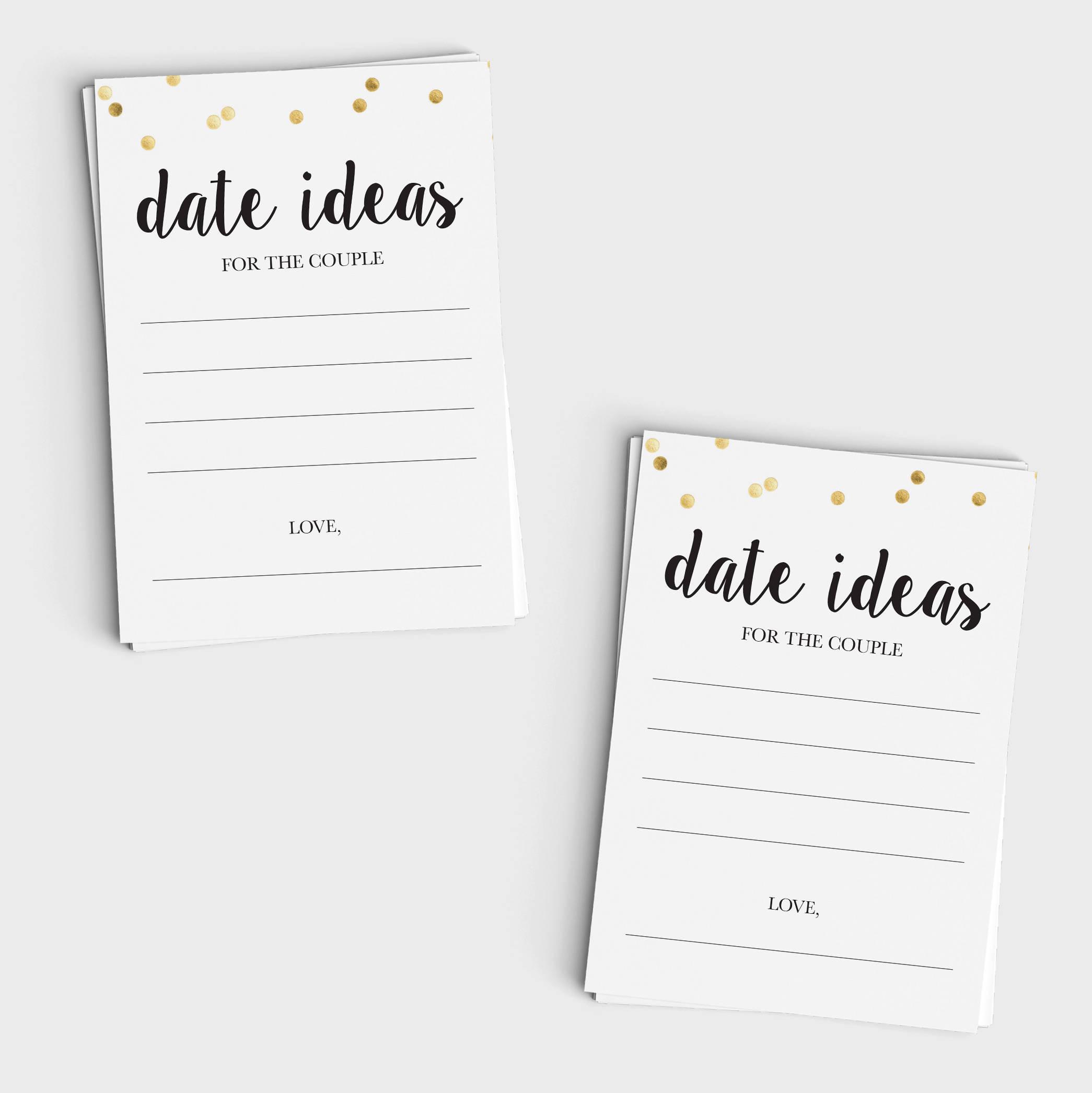 Date Night Ideas - Black & Glitter Design