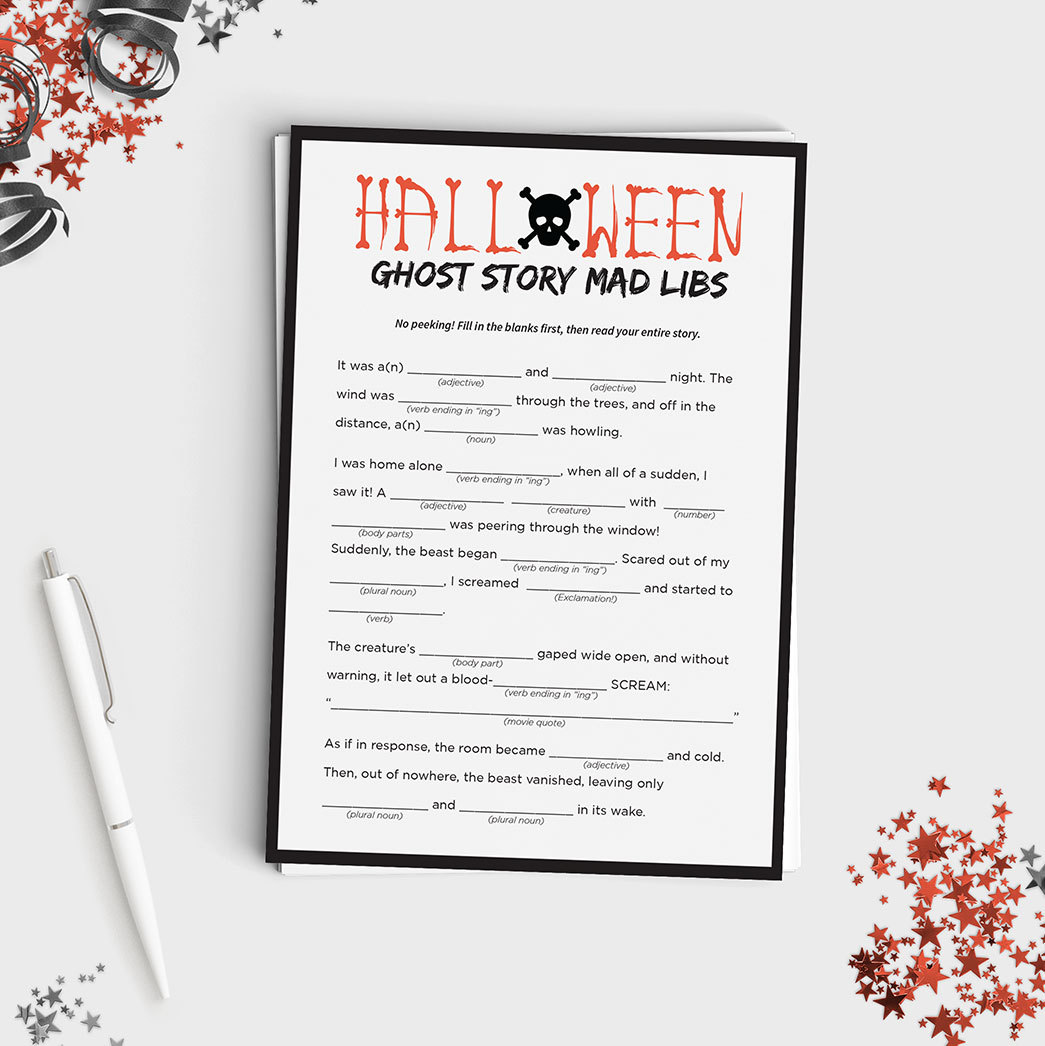 Halloween Mad Lib Game - Create Your Own Ghost Story | Favors & Stuff