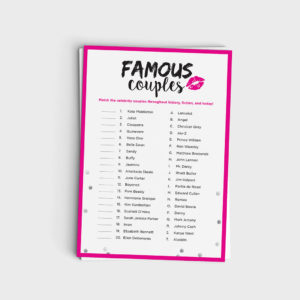 Fun Shower Game - Famous Couples Match Game