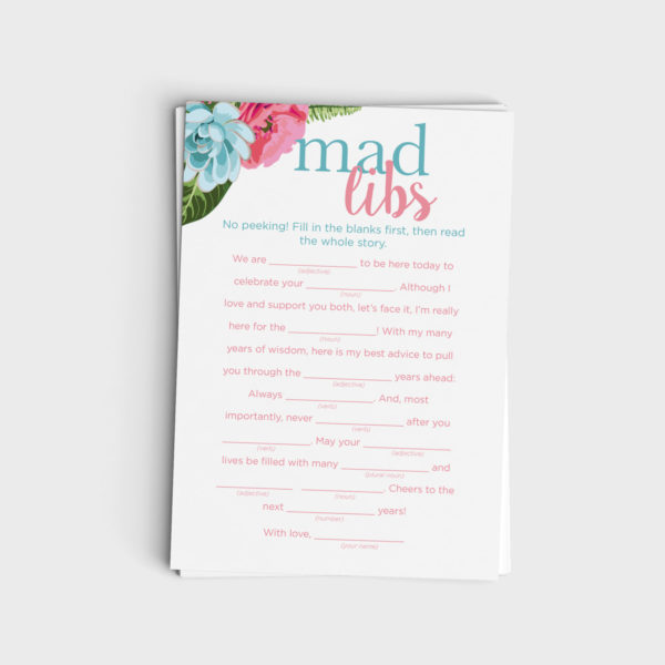 Mad Libs - Pink & Blue Floral