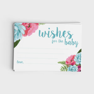 Wishes for Baby - Blue Floral & Pink Floral designs